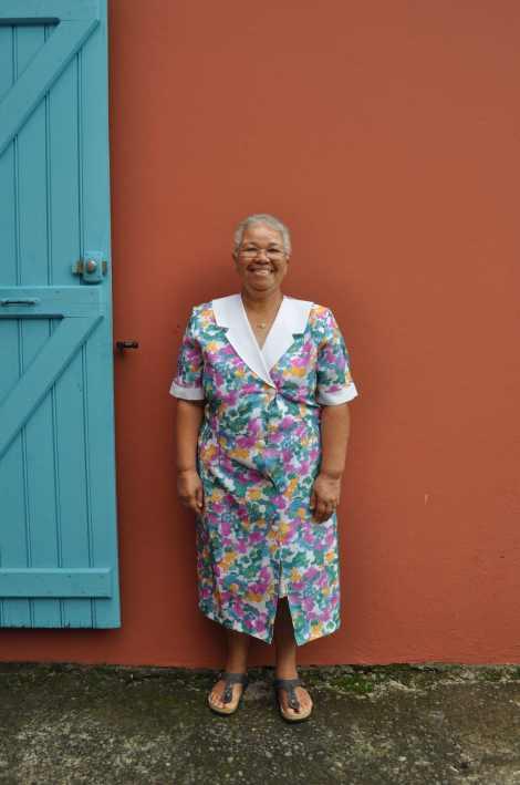L'objet du désir : «cette robe, c'est du pur vintage, le motif à fleurs me rappelle les blouses de ma propre grand-mère et je trouve le coloris très beau», Aurélie.