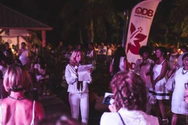 L'équipe organisatrice de la soirée Blanche à Ekwalis à La Possession.