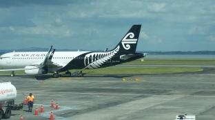 avion d'air New Zealand à Auckland